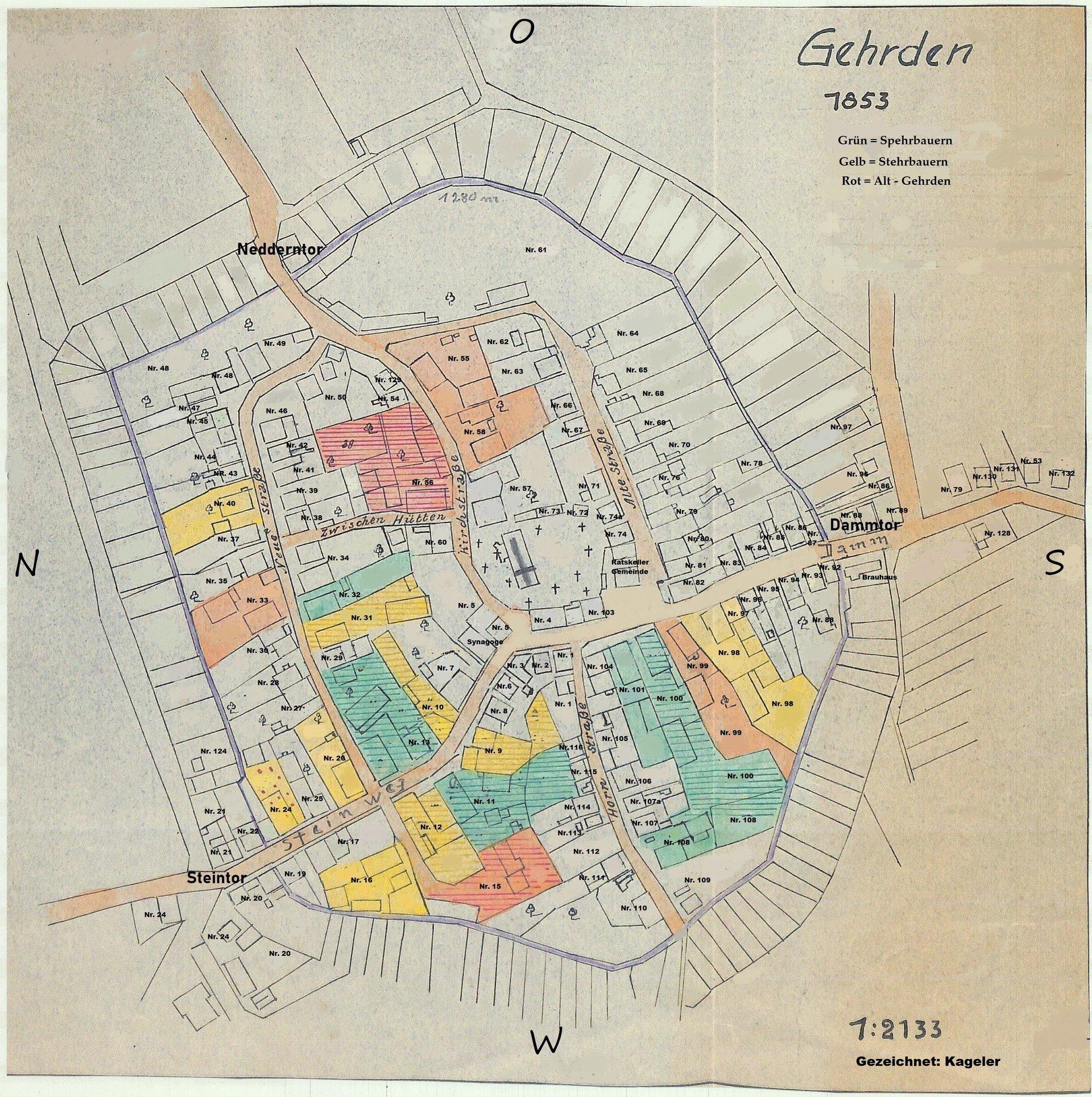 Karte Mit Hausnummern.Karten Von Gehrden