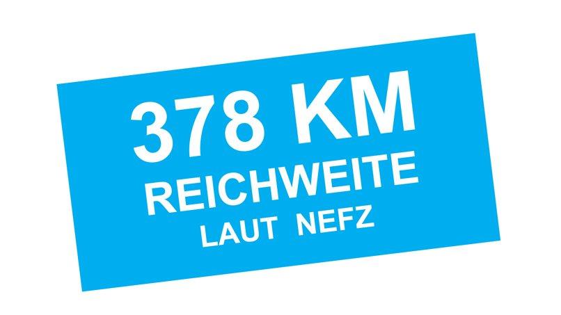 378 Kilometer Reichweite laut NEFZ