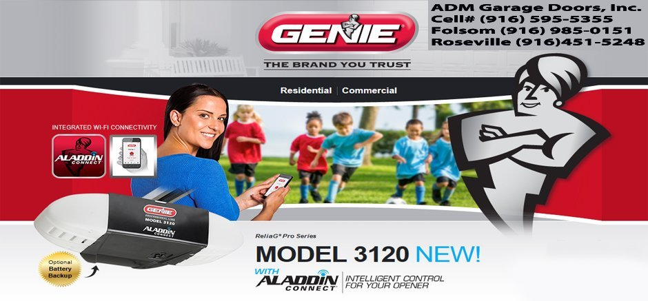 Adm Garage Doors Inc 916 595 5355 Genie 3120 Garage Door