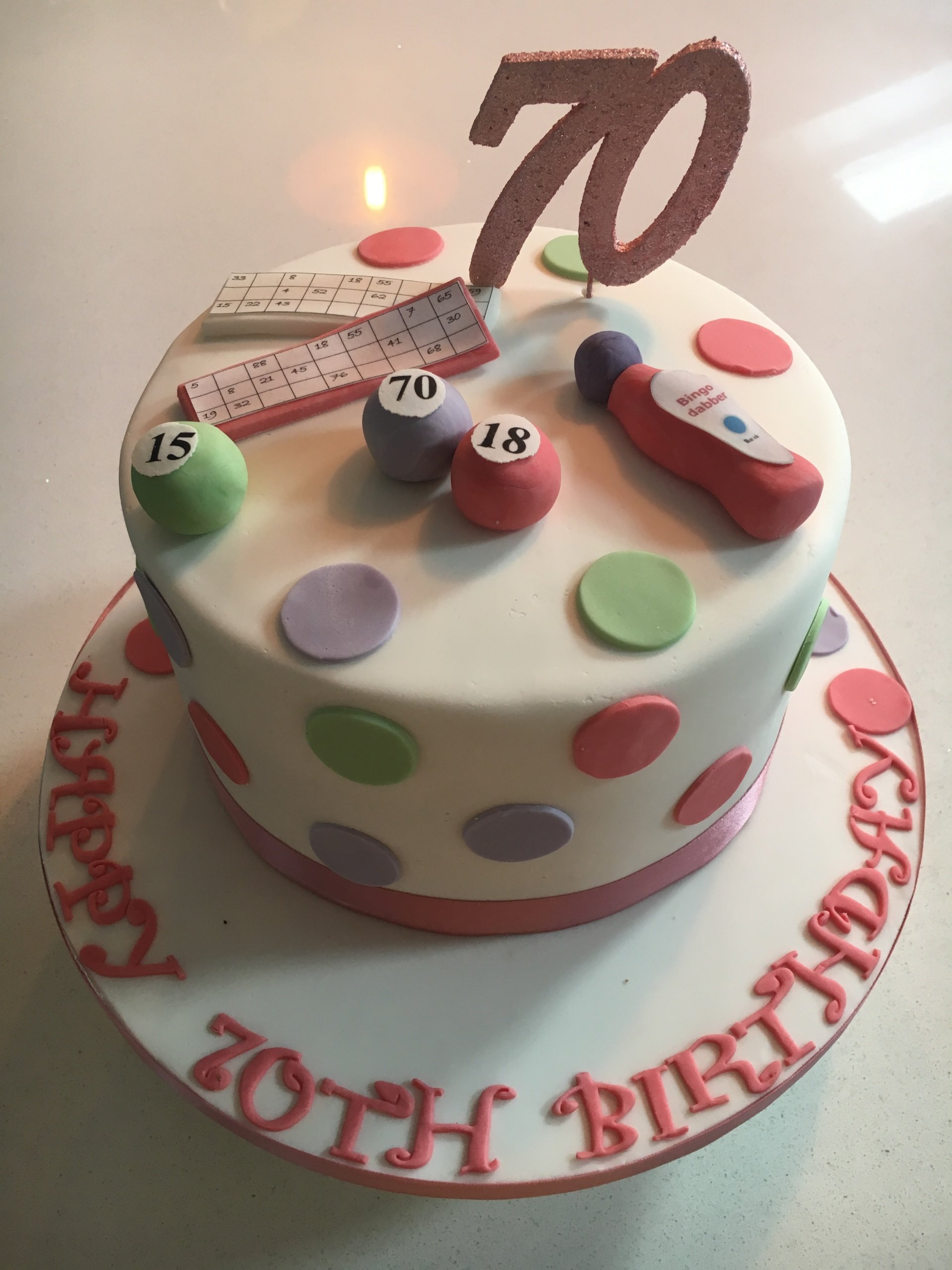 Bingo Birthday Cake