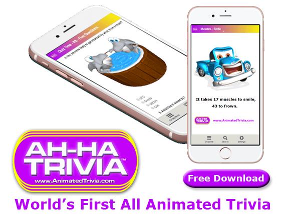 world's first all animated trivia app - World Trivia - Random Trivia