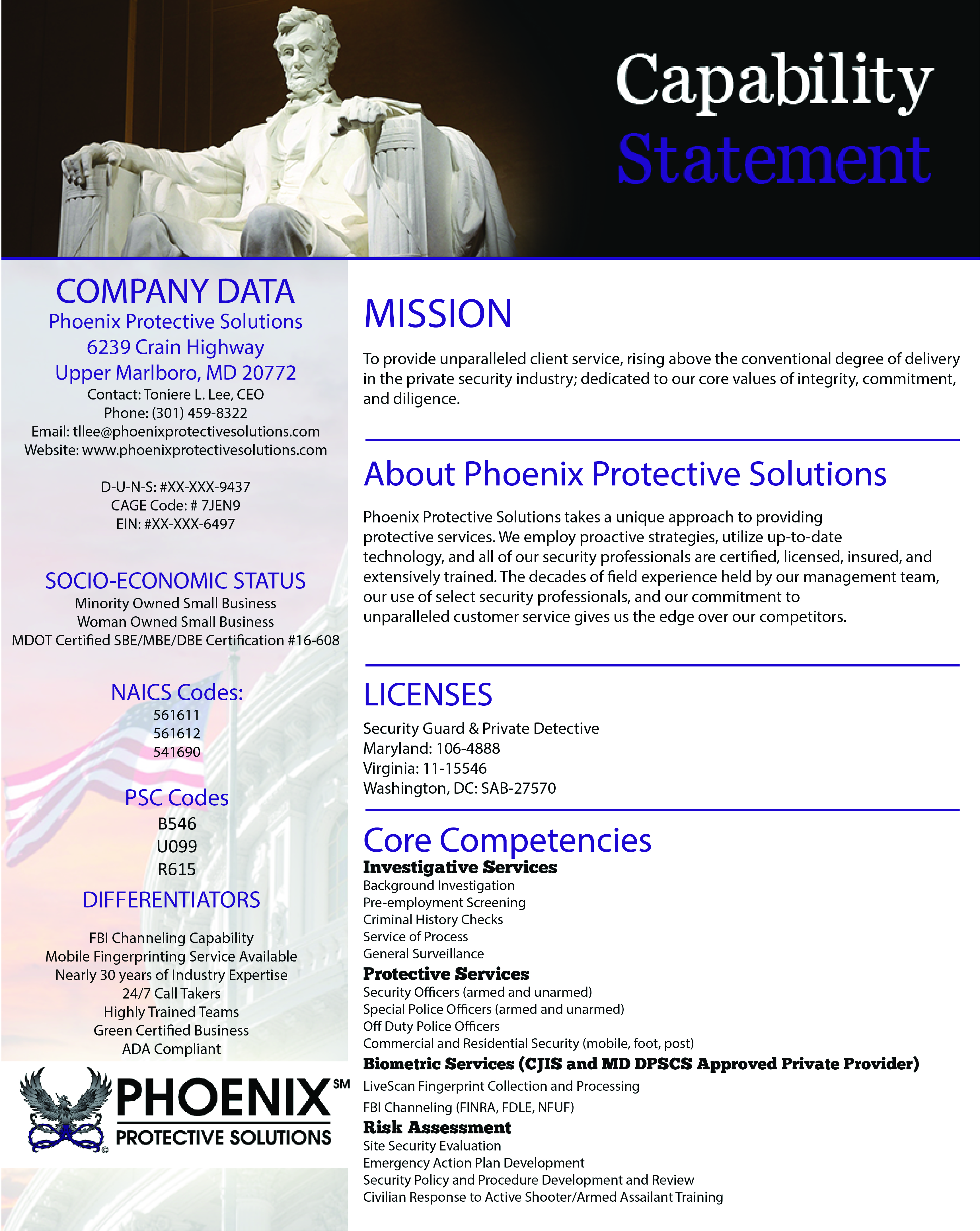 Phoenix Protective Solutions Security-Investigation-Livescan