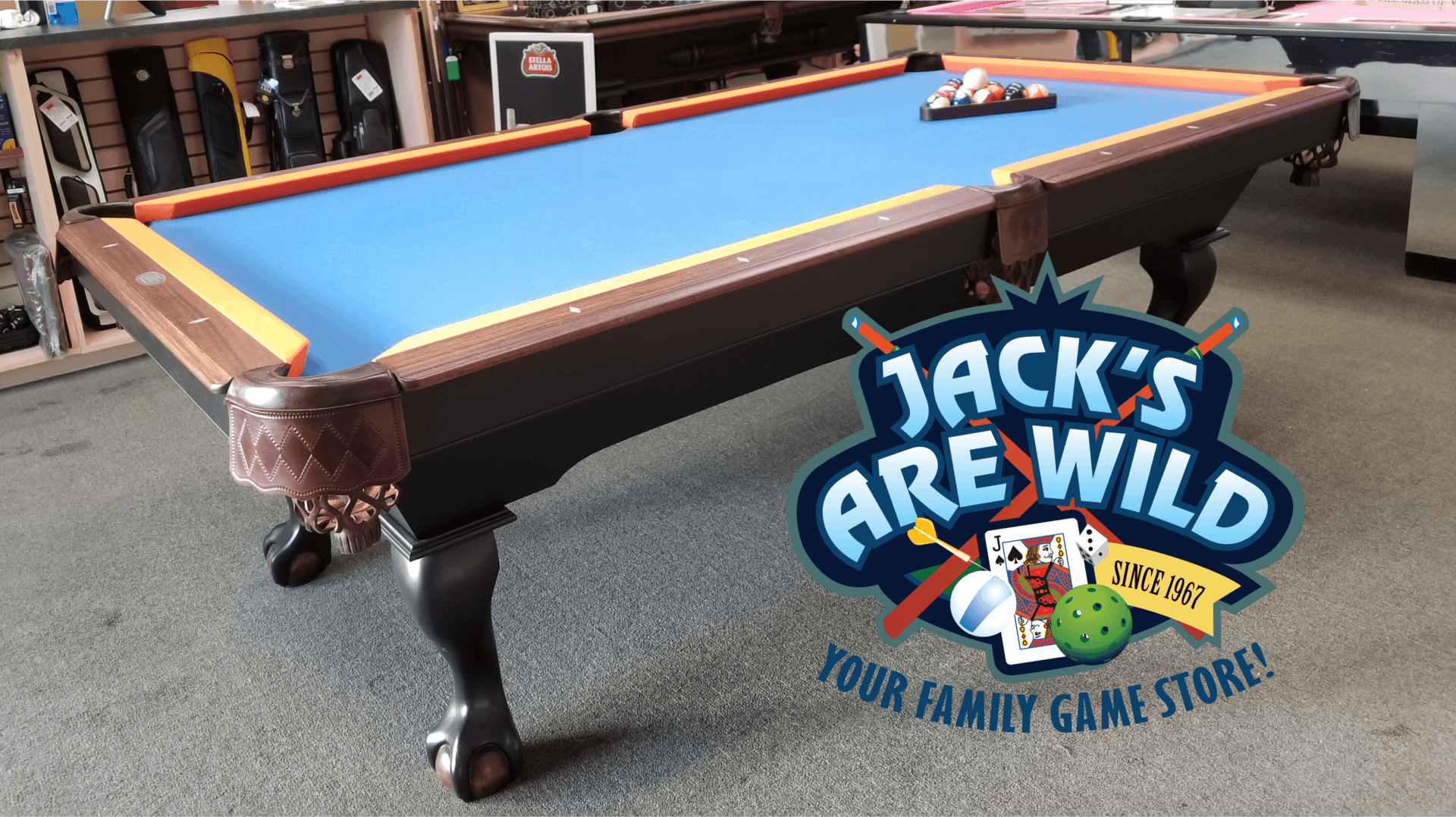 Jacks Are Wild, Pool, Poker, Darts, Pickleball, Billiards