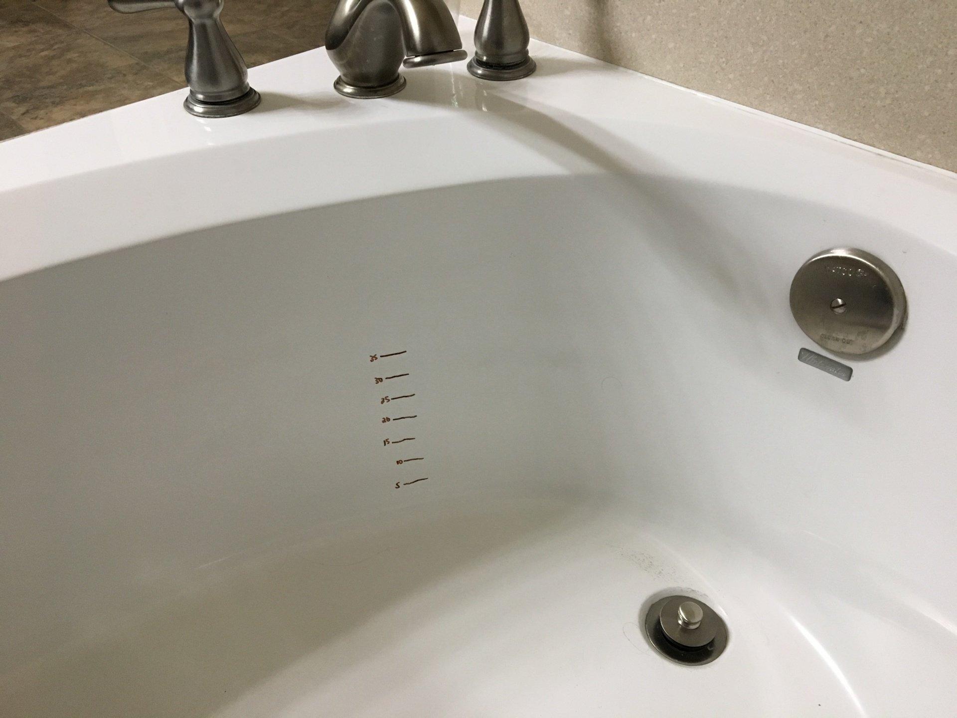 Bathtub Volume Marks