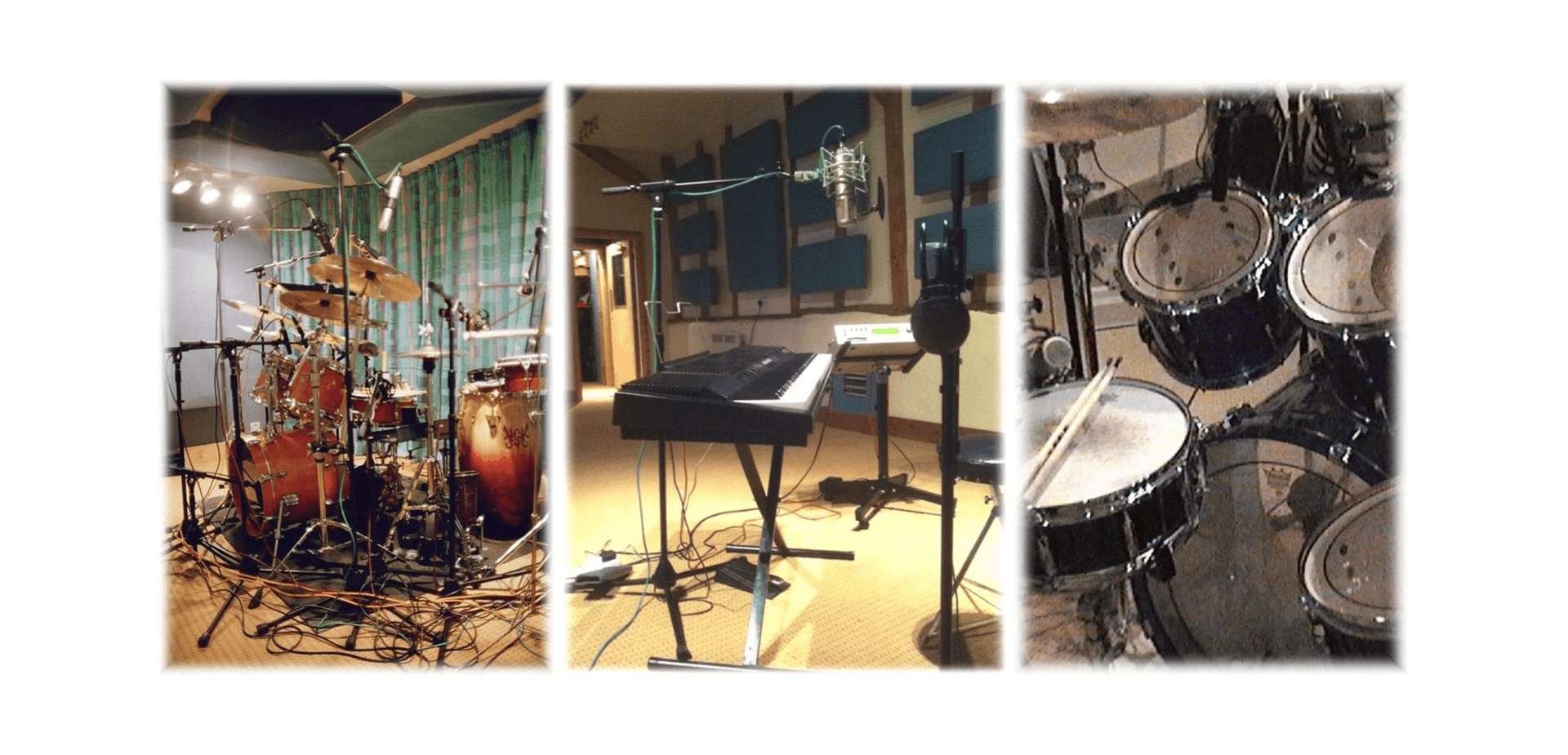 Orchard Cottage percussion room & live room.