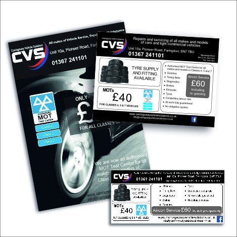 Print and Digital design - CVS - Oxford and Swindon