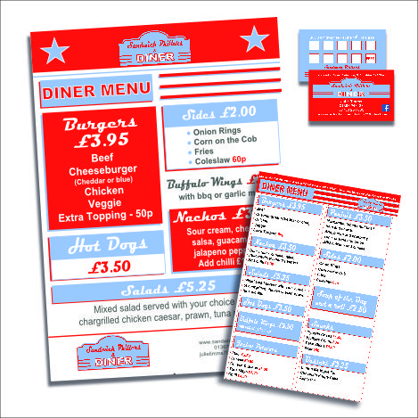 Signage and print design - Sandwich Phillers - Oxford and Swindon