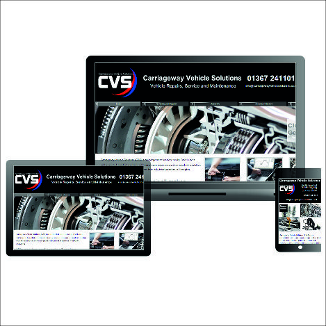 Website design - Carriageway Vehicle Solutions - Oxford and Swindon