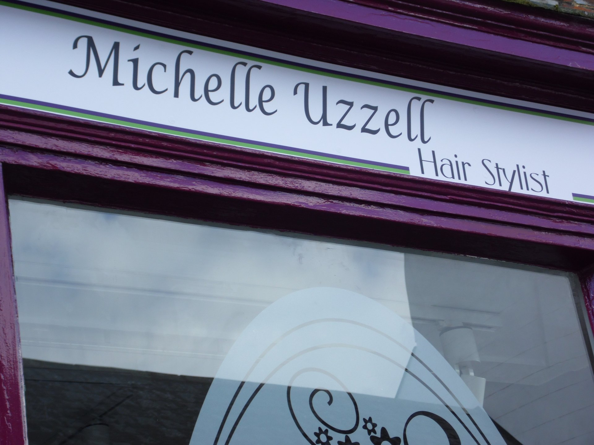 Signage design - Michelle Uzzell Hair - Oxford and Swindon