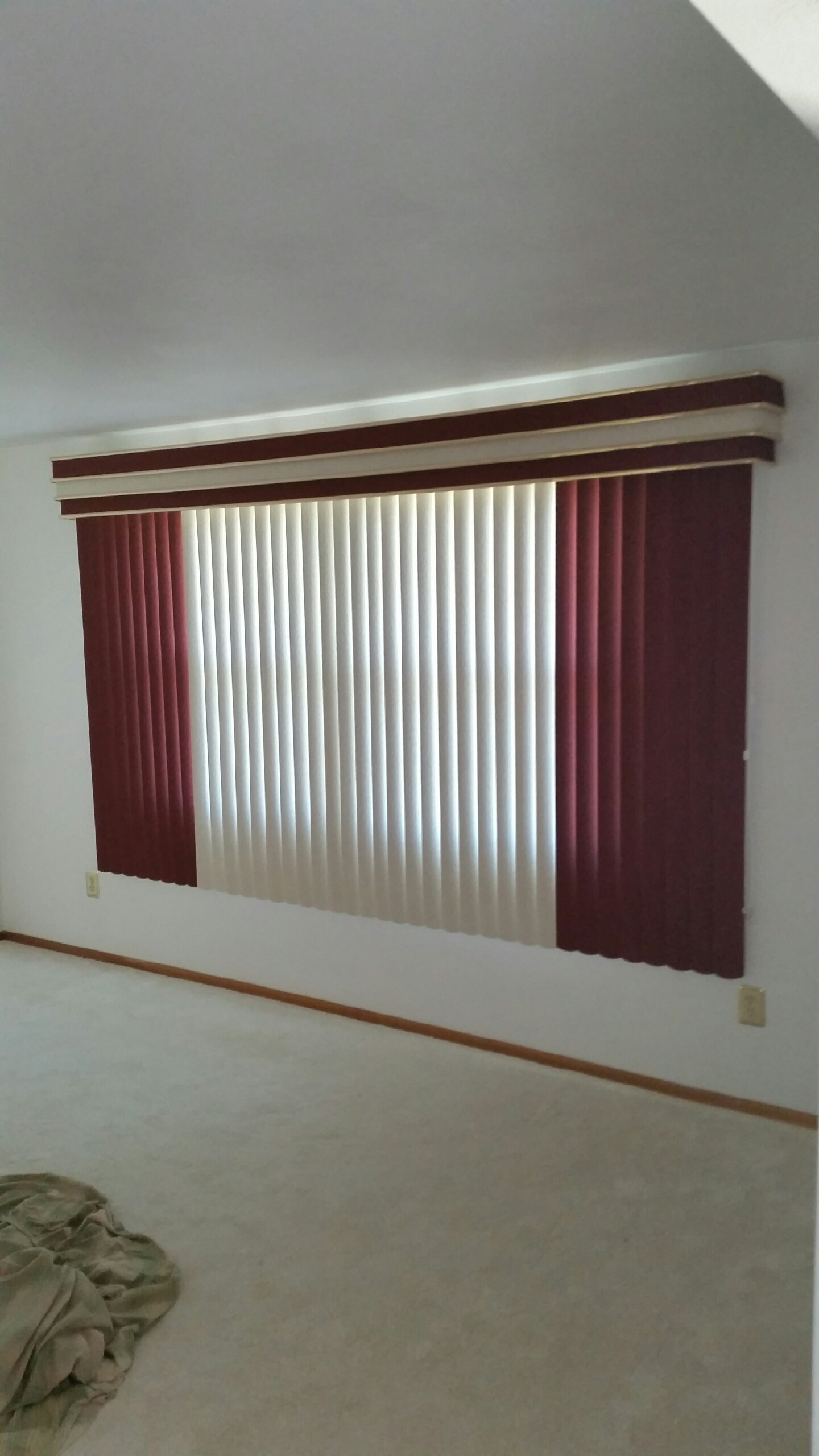 picture blind triple blinds optimumblinds full valance custom with vertical verticals net decomatic deluxe headrail system