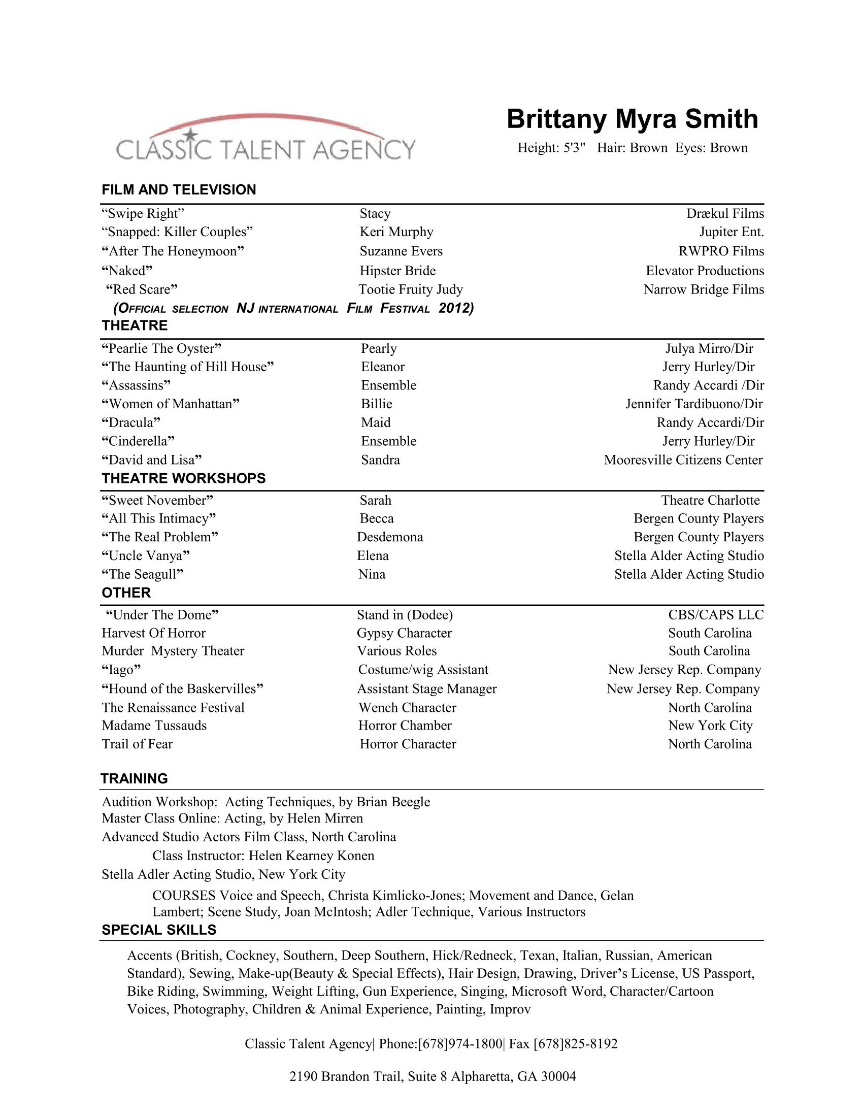 Brittany Myra Smith- Resume