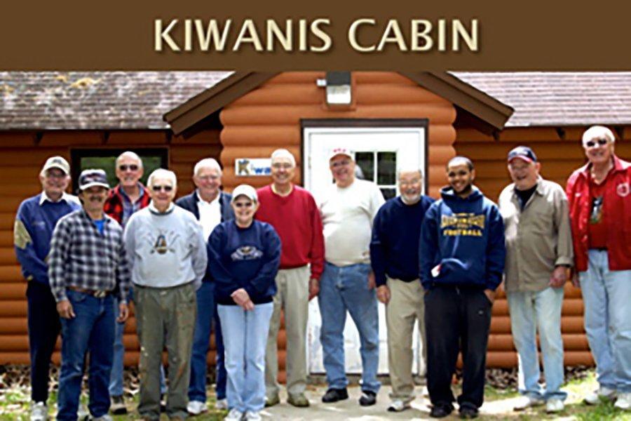 The Kiwanis Club of Elm Grove Golden K maintains the Kiwanis Cabin at Long Lake.