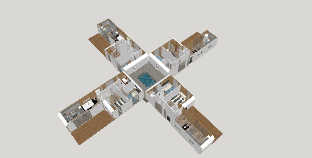 4+Plex+with+Pool+%234-ffc443a6 Panic Room House Floor Plan on bewitched floor plans, triangle floor plans, black and white floor plans, ancient floor plans, castle floor plans, skyfall floor plans,