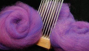 Wolle kämmen, Faservorbereitung für Kammgarn