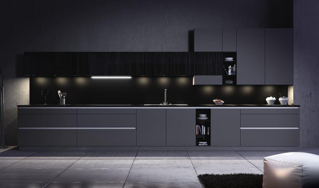 Ideal cocina negra ahorrate un 50 en madrid cocieco - Cocinas negras ...