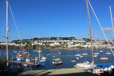 Fowey from Polruan Cornwall in photo gallery by L A Kent author of Silent Gull