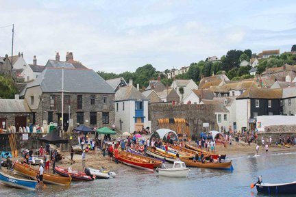 Gorran Haven gig regatta Cornwall in photo gallery by L A Kent author of Rogue Flamingo