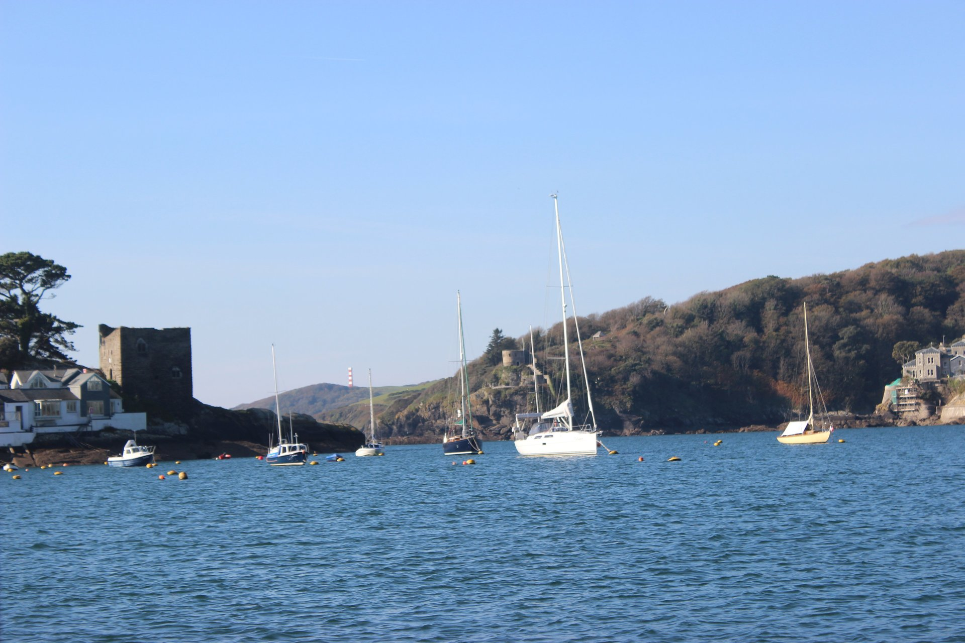 Polruan blockhouse on the River FoweyCornwall in photo gallery by L A Kent author of Silent Gull