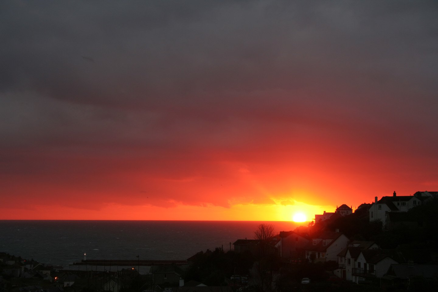 Mevagissey sunrise Cornwall in photo gallery by L A Kent author of Silent Gull