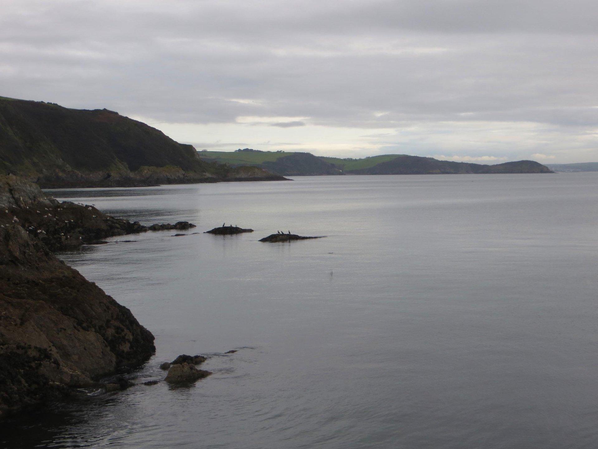 towards Pentewan from Mevagissey quayside L A Kent Rogue Flamingo DI Treloar mysteries