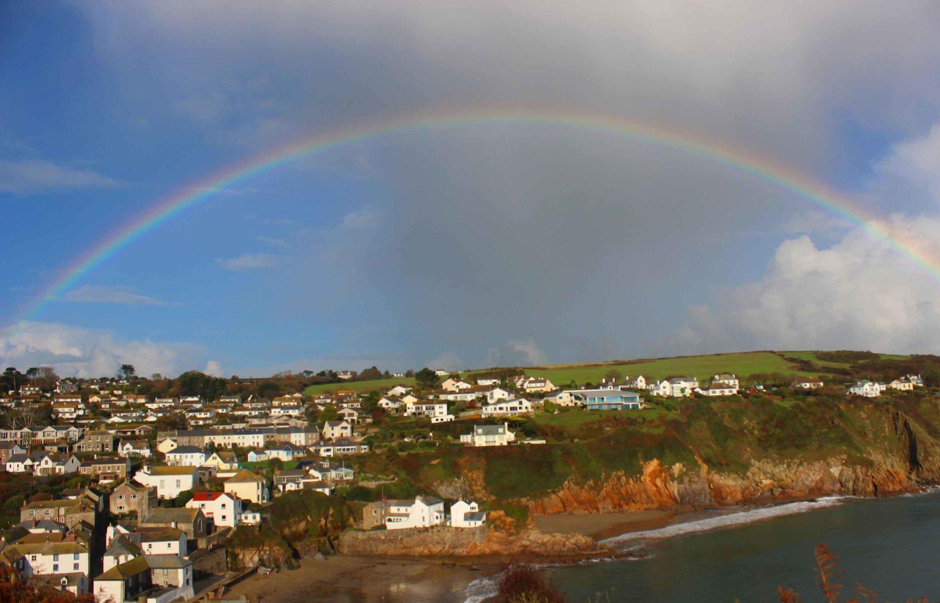 rainbow over Gorran Haven L A Kent DI Treloar series Silent Gull