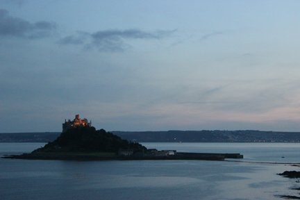 St Michael's Mount at dawn Cornwall in photo gallery by L A Kent author of Broken Dove