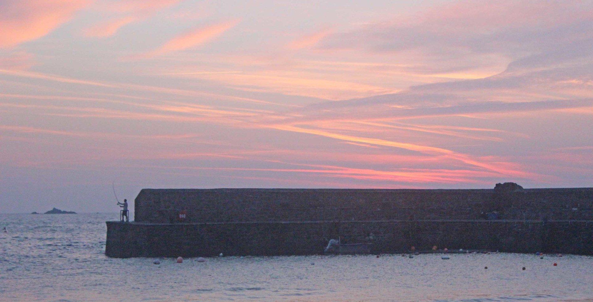 lone early morning fisherman Gorran Haven L A Kent Rogue Flamingo Inspector Treloar Mysteries