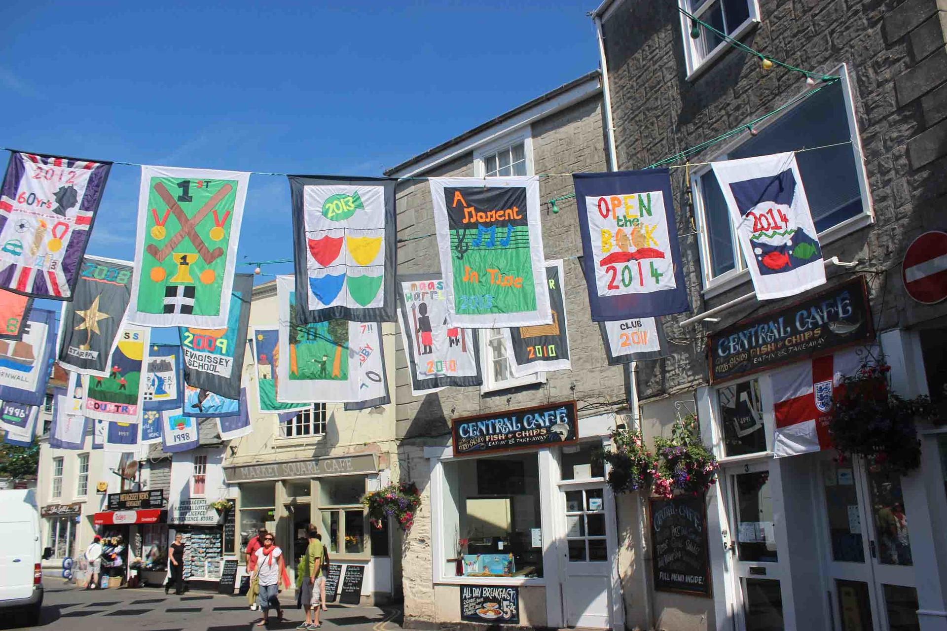 flags for Feast Week in Mevagissey L A Kent DI Treloar series Rogue Flamingo