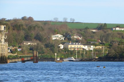 River Fowey upstream from Bodinnick Cornwall in photo gallery by L A Kent author of Broken Dove