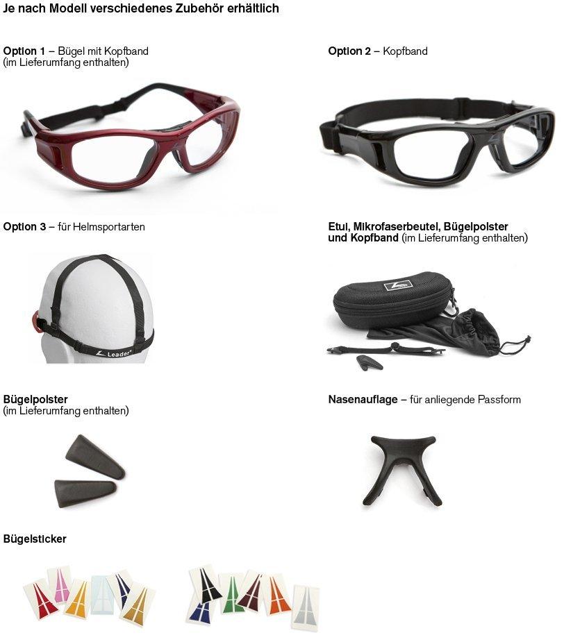 Leader C2 Ballsport-Brille Zubehör