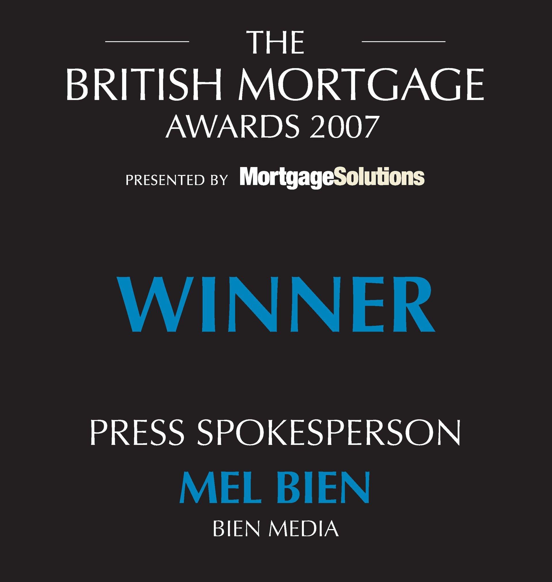 British Mortgage Awards Winner 2007