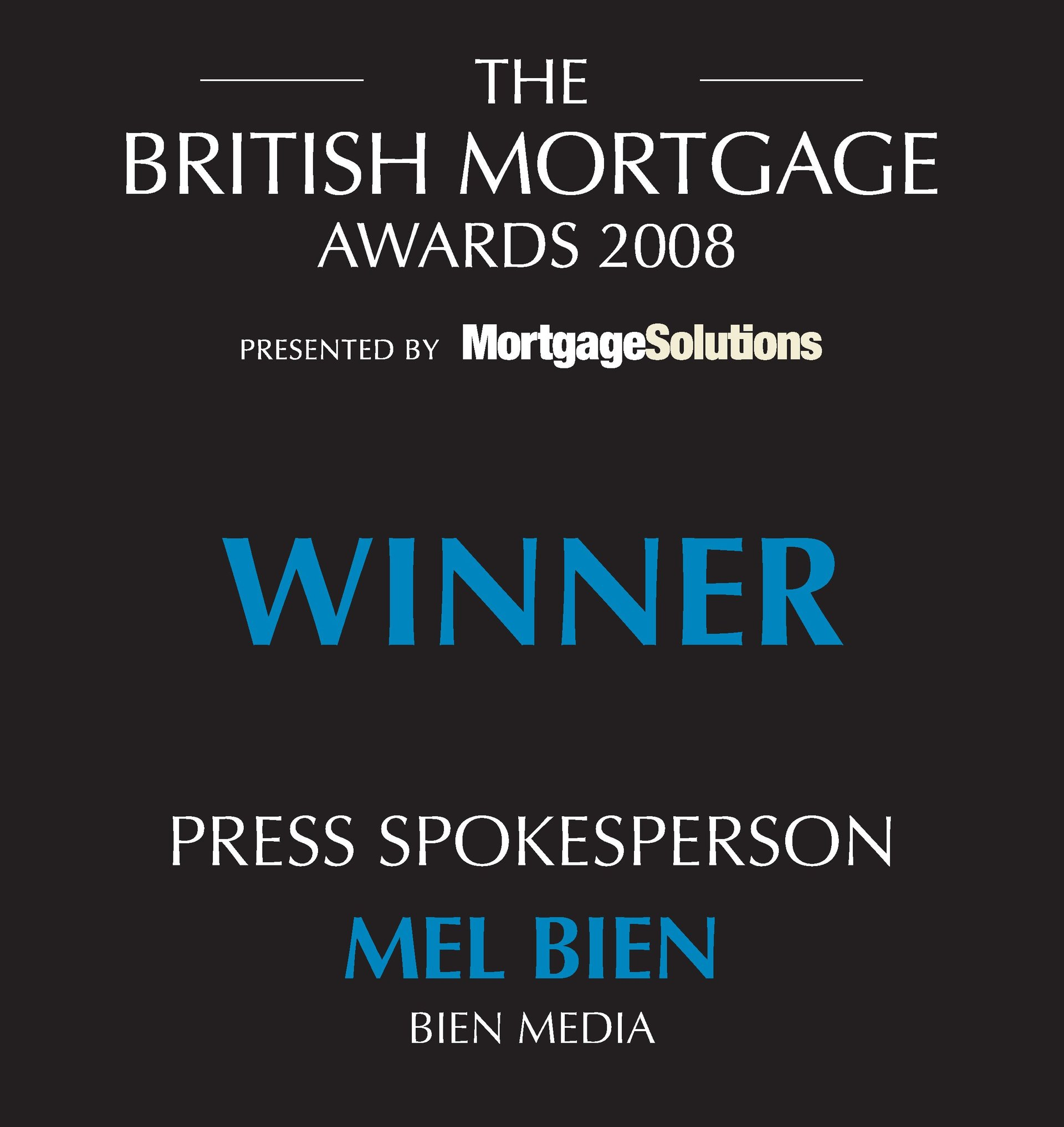 British Mortgage Awards Winner 2008