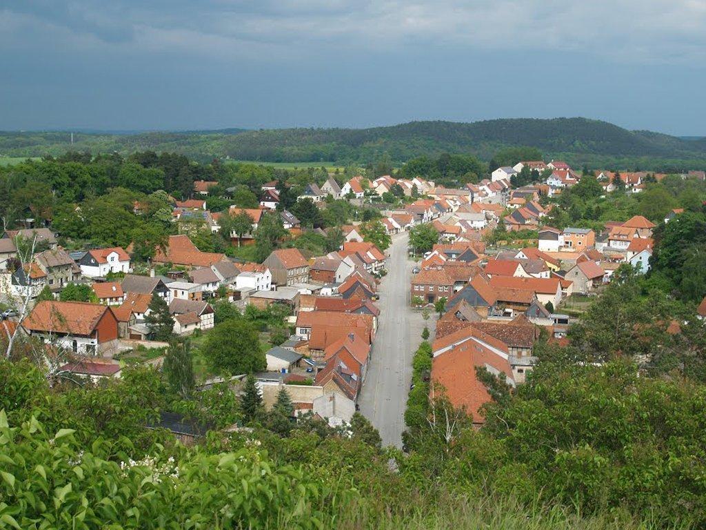 Blick auf Langenstein von der Altenburg