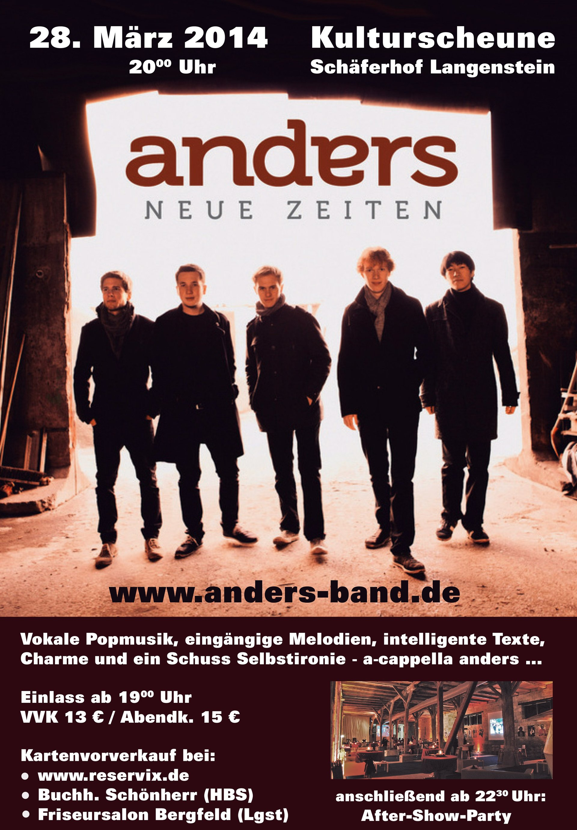 Plakat der Band